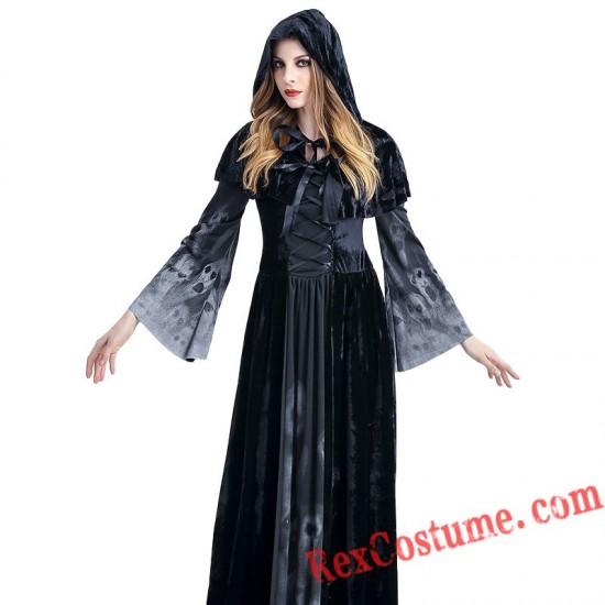 Halloween Reaper Skull Women Dress