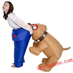 Brown Dog Inflatable Blow Up Costume