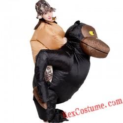 Black Orangutan Monkey Inflatable Blow Up Costume