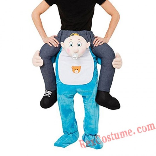 Adult Piggyback Ride On Carry Me Baby Model Mascot costume