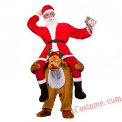 Adult Piggyback Ride On Carry Me Elk Mascot costume
