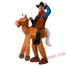 Adult Piggyback Ride On Carry Me Giant Horse Mascot costume