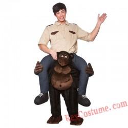 Adult Piggyback Ride On Carry Me Giant Gorilla Mascot costume