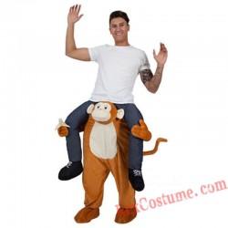 Adult Piggyback Ride On Carry Me Monkey Mascot costume