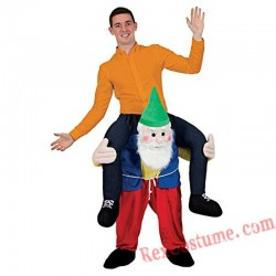 Adult Piggyback Ride On Carry Me Santa Claus Mascot costume