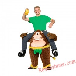 Adult Piggyback Ride On Carry Me Gorilla Mascot costume