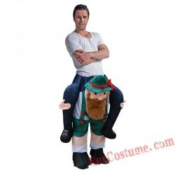 Adult Piggyback Ride On Carry Me Dwarfs Mascot costume