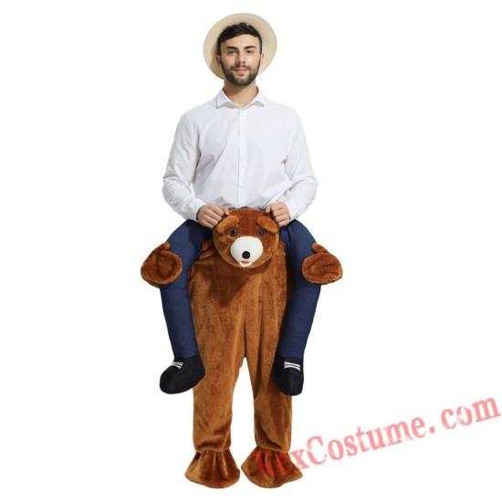 Adult Piggyback Ride On Carry Me bear Mascot costume
