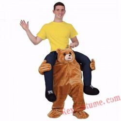 Adult Piggyback Ride On Carry Me Teddy Bear Stuffed costume