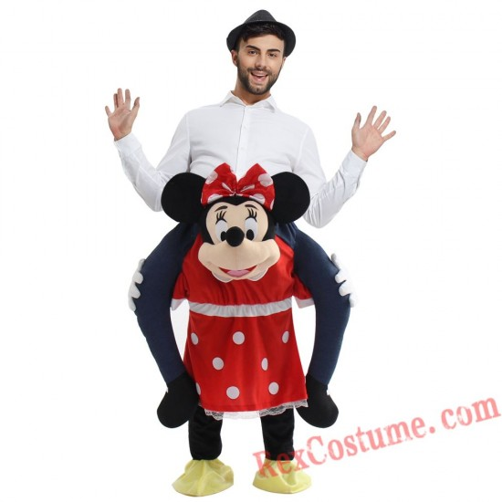 Adult Piggyback Ride On Carry Me Minnie Mascot costume