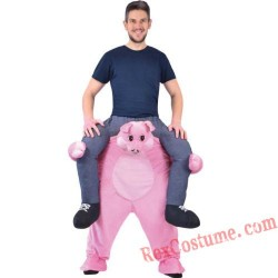 Adult Piggyback Ride On Carry Me Pig Mascot costume