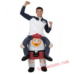 Adult Piggyback Ride On Carry Me Uncle Garden Mascot costume