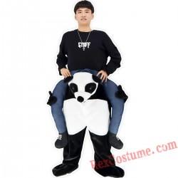 Adult Piggyback Ride On Carry Me Panda Mascot costume