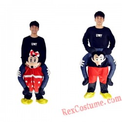 Adult Piggyback Ride On Carry Me Mickey and Minnie costume