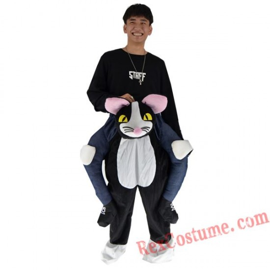 Adult Piggyback Ride On Carry Me Animal Cat Mascot costume