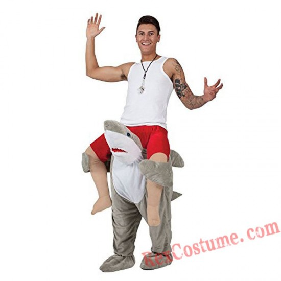 Adult Piggyback Ride On Carry Me Shark Mascot costume
