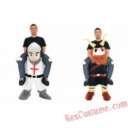 Adult Piggyback Ride On Me Viking Pirate/Crusader costume