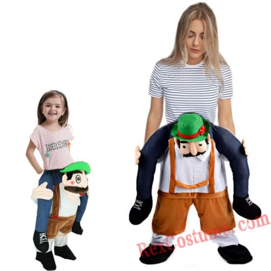 Adult Piggyback Ride On Carry Me Beer Mascot costume