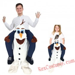 Adult Piggyback Ride On Carry Me Olaf Mascot costume