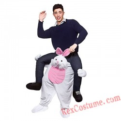 Adult Piggyback Ride On Carry Me Rabbit Mascot costume