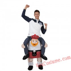 Adult Piggyback Ride On Carry Me Scottish Mascot costume