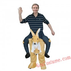Adult Piggyback Ride On Carry Me Kangaroo Mascot costume