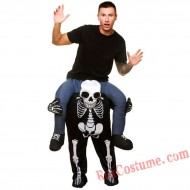 Adult Piggyback Ride On Carry Me Skull Mascot costume