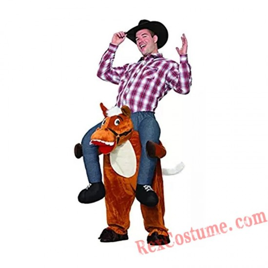 Adult Piggyback Ride On Carry Me Horse Mascot costume