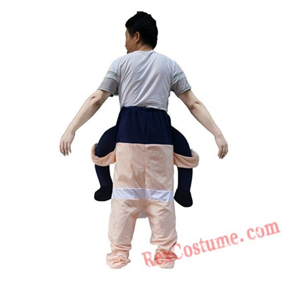 Adult Piggyback Ride On Carry Me Sumo Mascot costume