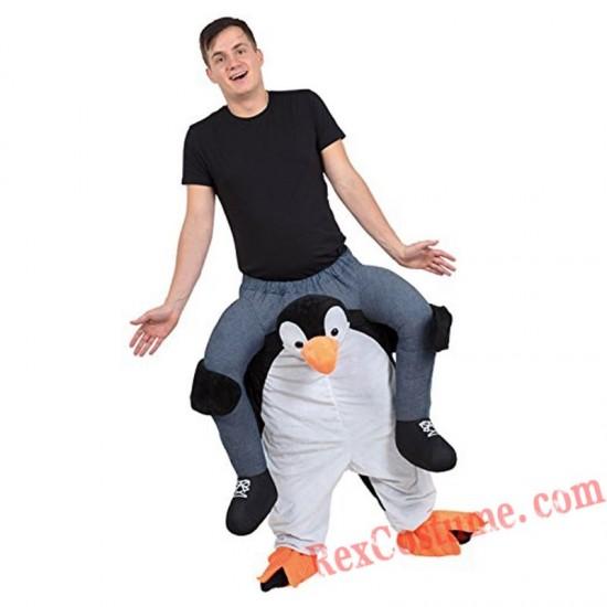 Adult Piggyback Ride On Carry Me Penguin Mascot costume