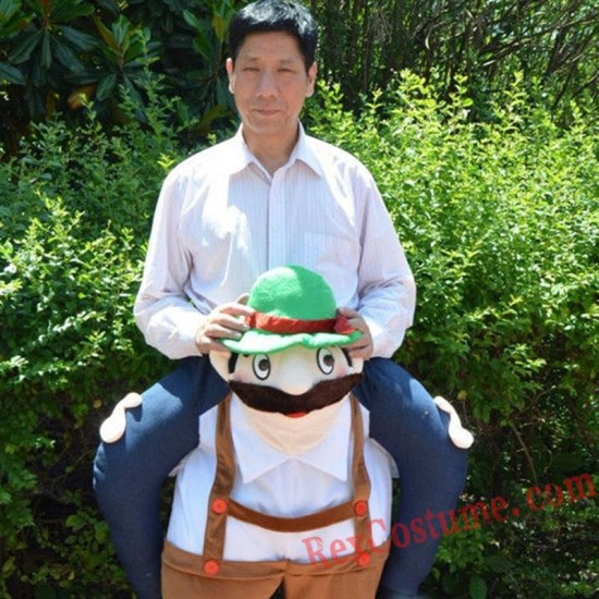 Adult Piggyback Ride On Carry Me Beer man Mascot costume