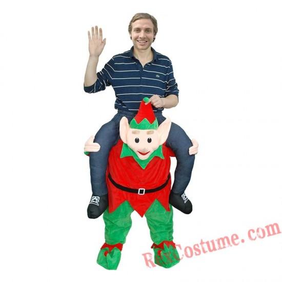 Adult Piggyback Ride On Carry Me ELF Mascot costume