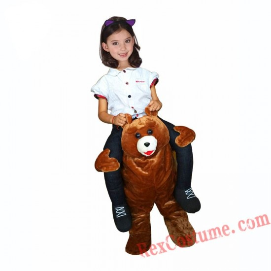 Adult Piggyback Ride On Carry Me Bear Mascot costume
