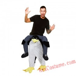 Adult Piggyback Ride On Carry Me Penguins Mascot costume