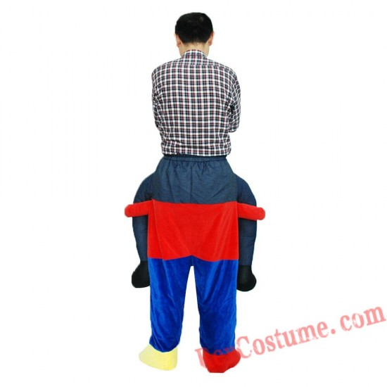 Adult Piggyback Ride On Carry Me Clown Mascot costume