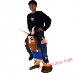 Adult Piggyback Ride On Carry Me devil Mascot costume