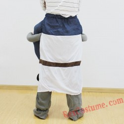 Adult Piggyback Ride On Carry Me Medieval warrio costume